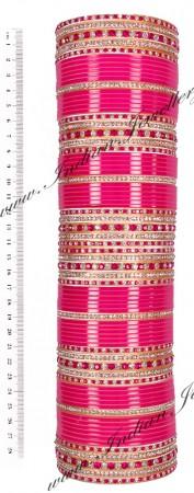 RIMI Rani Pink Wedding Chura, 2-Hands, 2.8 UGPC03483