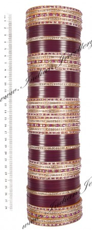 RIMI Purple Wedding Chura, 2-Hands, 2.4 UGUC03480
