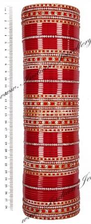 RIMI Bright Red Wedding Chura, 2-Hands, 2.8 UGRC03501