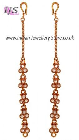 Elegant American Diamond Sahara Ear Chains EEWA11021