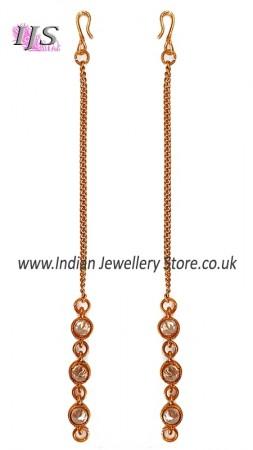 Gold Simple Chain & American Diamond Saharas EEWA11022