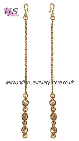 Antique, Simple Chain & American Diamond Saharas EAWA11023