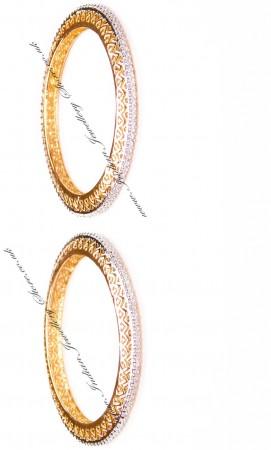 2x Heart Indian Bangles, 2.8 WGWA03609