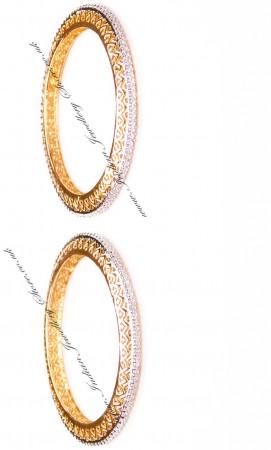 2x Heart Indian Bangles, 2.4 WGWA03608