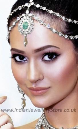 Mint Green 2-line Matha Patti - Anushka DSGA10480