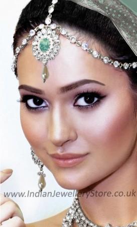 Mint Green 1-line Matha Patti - Anushka DSGA10482