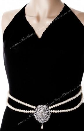 Faux pearl Saree Belt LSWA0627