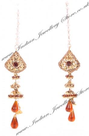 Kashmiri Jhumka Earrings EANC04040
