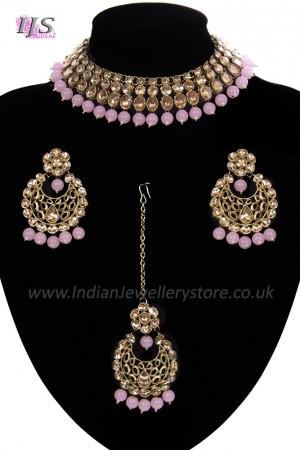 Antique Flexible Indian Jewellery Set NANK11510C
