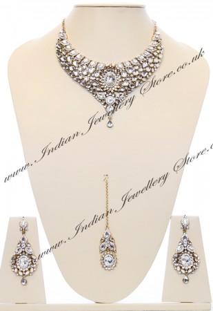 Nisha Indian Bridal Jewellery BAWK03974