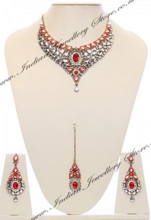 Nisha Indian Bridal Jewellery NAOK03975
