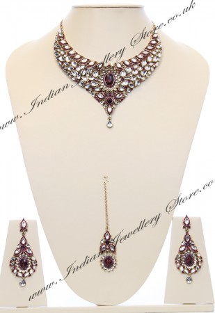 Nisha Indian Bridal Jewellery NAUK03978