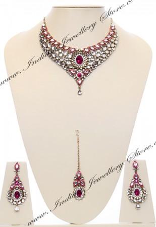 Nisha Indian Bridal Jewellery NAPK03979