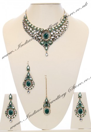 Nisha Indian Bridal Jewellery NAGK03981