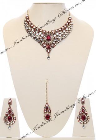 Nisha Indian Bridal Jewellery NARK03982