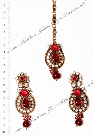 RAJNI Earrings and Tikka IARC02663