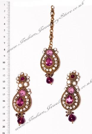 RAJNI Earrings and Tikka IAUC02665