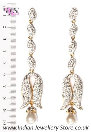Long Diamond Earrings EGWA03511
