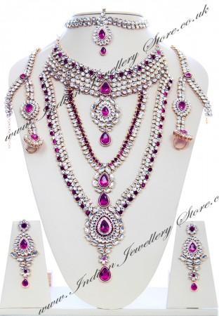 Rhumi Kundan Bridal Set BAUK04748
