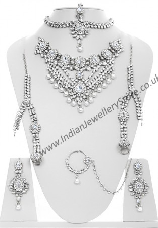 Kundan & Pearl Bridal Set - Vashita BSWL10508