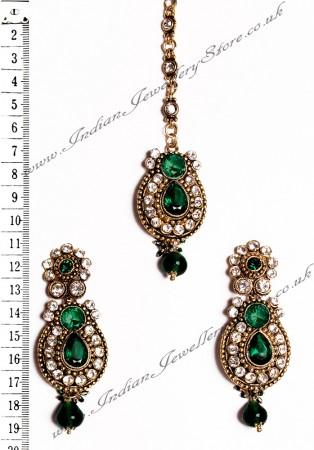 RAJNI Earrings and Tikka IAGC02662