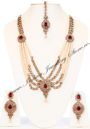 Indian Jewellery Set - Pearl Mala Haar