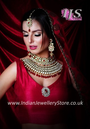 Indian bridal choker necklace