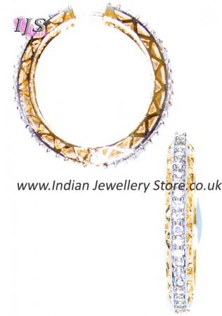 American Diamond Indian Hoop Earrings EGWA03814