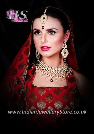 Raj Kumari Kundan Bridal Set BERK10731C