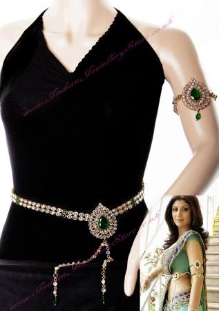 Shilpa Sheety Style Saree Belt and Bajuband LGGA0723C