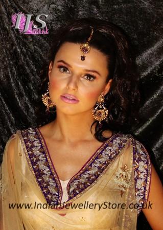 Indian earrings & tikka
