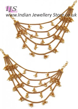 Heavy looking, Multiple Chain Web Indian Saharas for Earrings EEWL11031