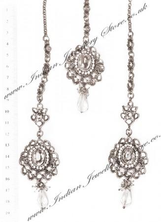 RAMEEKA Earrings and Tikka ISWK03459
