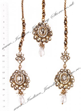 RAMEEKA Earrings and Tikka IAWK03460
