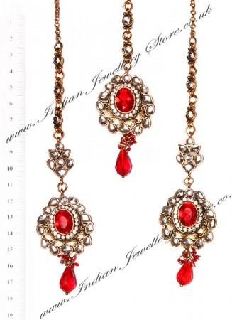 RAMEEKA Earrings and Tikka IARK03464