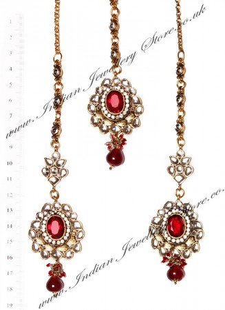 RAMEEKA Earrings and Tikka IARK03465