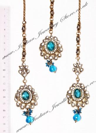 RAMEEKA Earrings and Tikka IALK03468