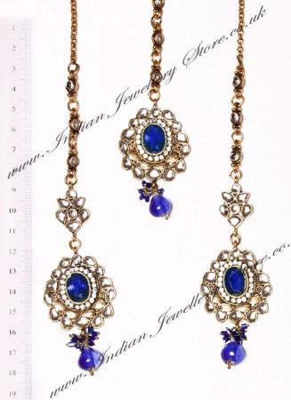 RAMEEKA Earrings and Tikka IALK03469