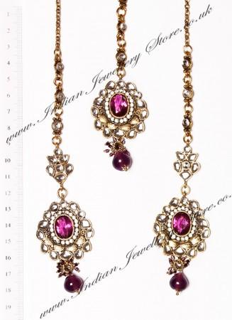 RAMEEKA Earrings and Tikka IAUK03470