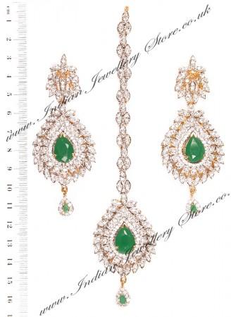LAILA Earrings and Tikka IGGA03472