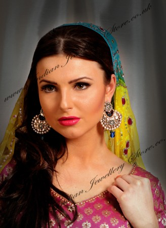GULBADAN Kundan Earrings EALK03345c