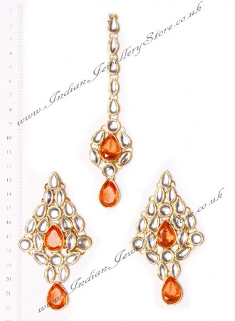 KUSHI Earrings and Tikka IGOK02645