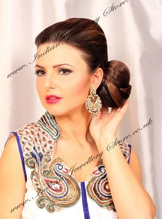 Large Diamante Earrings EAWC03359