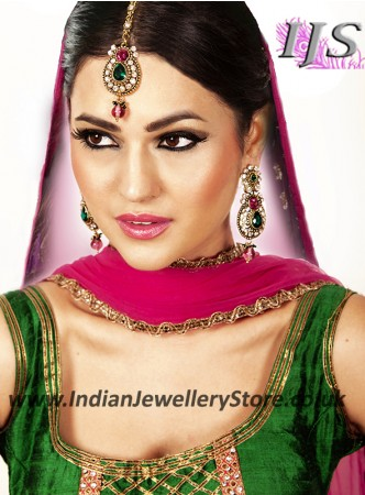 RAJNI Earrings and Tikka IAMC02898