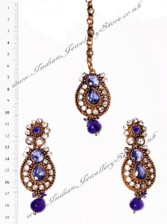 RAJNI Earrings and Tikka IALC02661