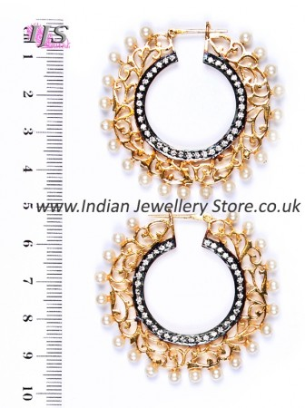 Flat Hoop Bollywood Earrings EGWA03815