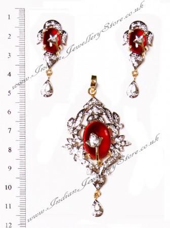 American Diamond Pendant Set NGRA02874