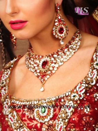 Nisha Indian Jewellery Set Excl Jhumar Indian