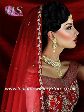 Indian Laac Kundan Wedding Set BEWK10717C