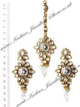 Kundan Earrings & Tikka Set IGWK10252